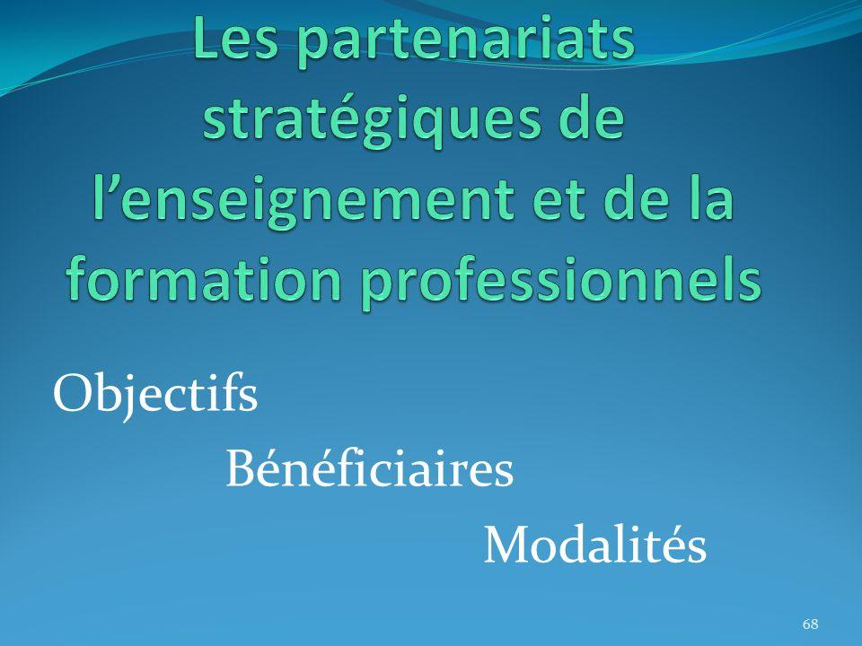 Les partenariats stratégiques de l'enseignement et de la formation professionnels