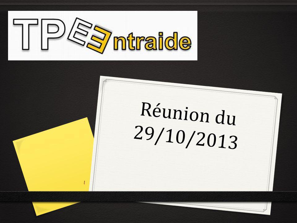 Réunion du 29/10/2013
