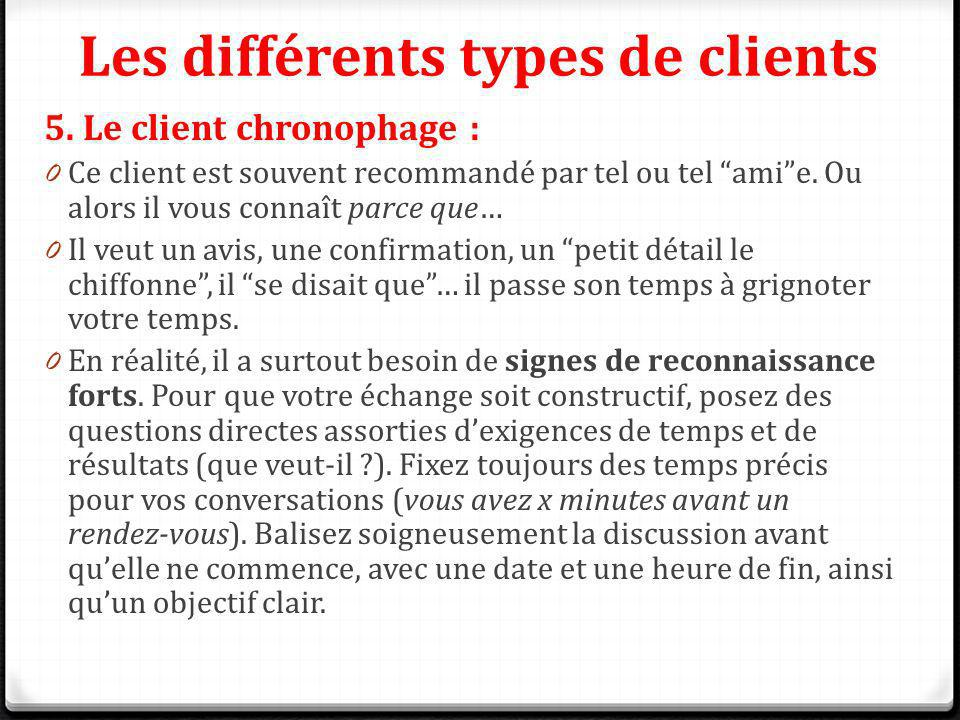 Les différents types de clients
