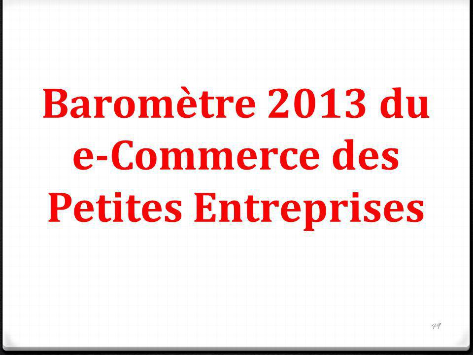 Baromètre 2013 du e-Commerce des Petites Entreprises