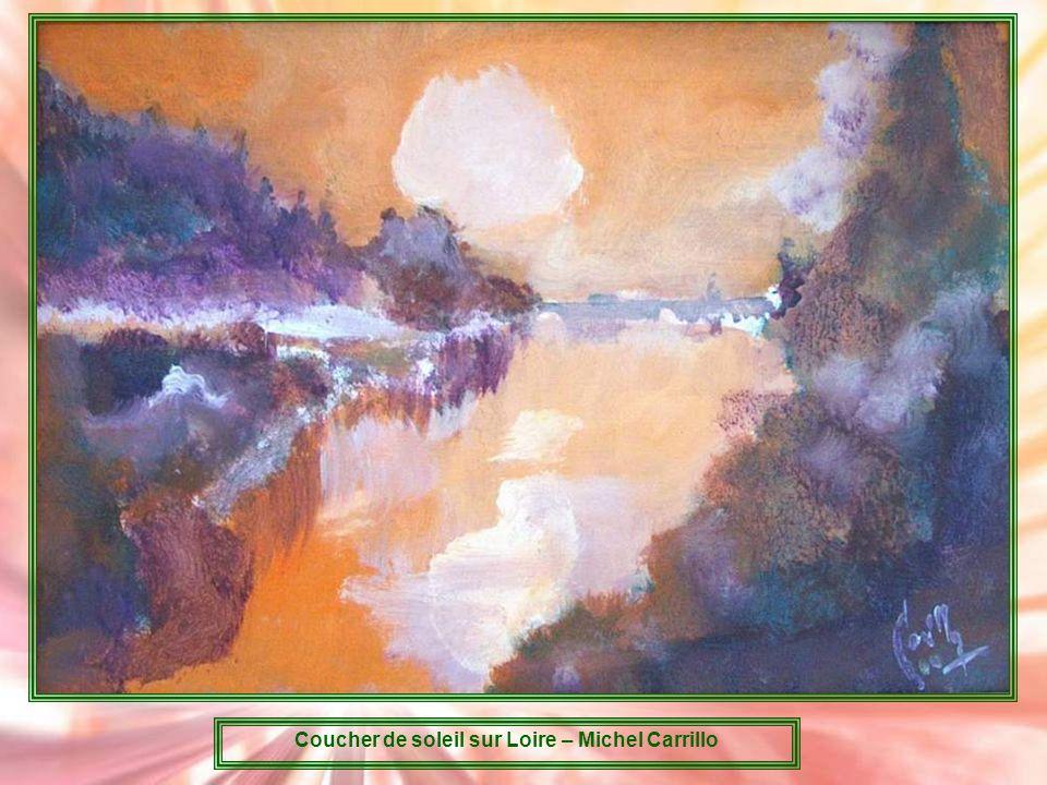 Coucher de soleil sur Loire – Michel Carrillo