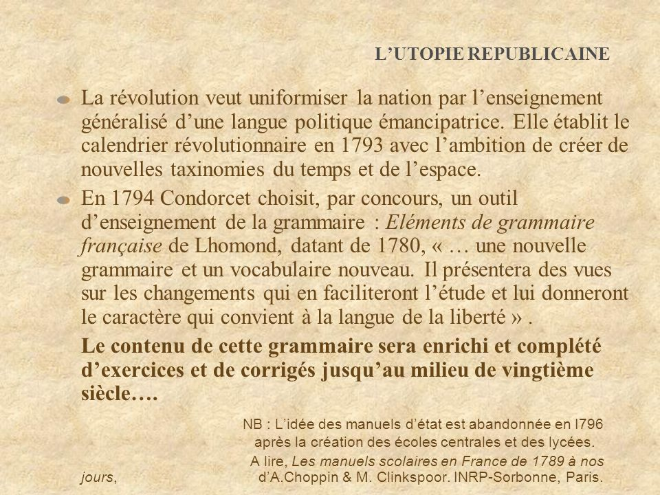L'UTOPIE REPUBLICAINE