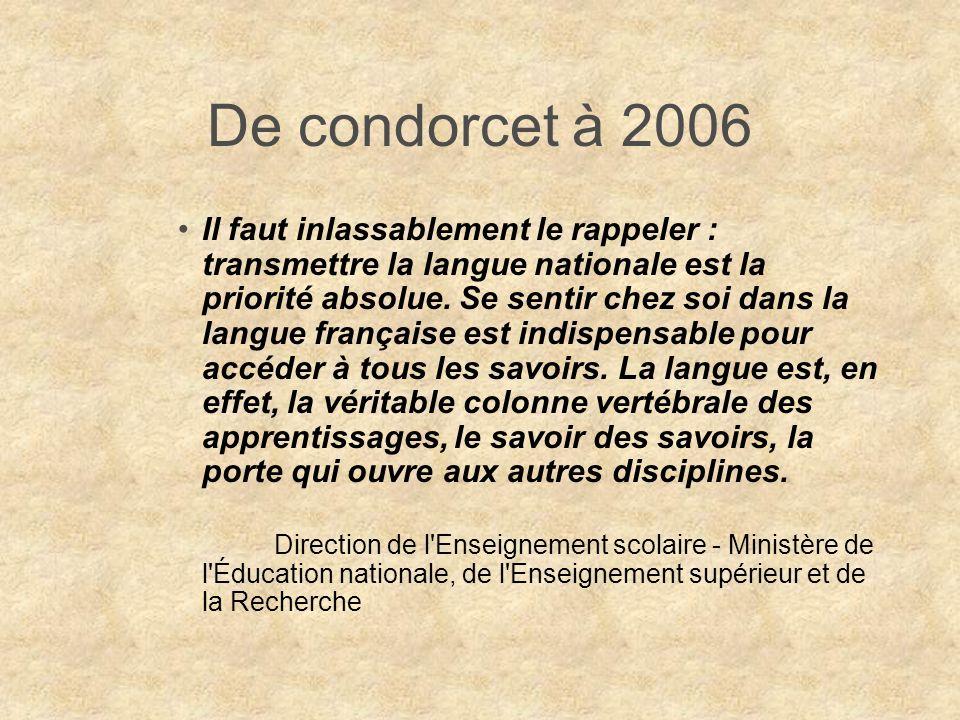 De condorcet à 2006