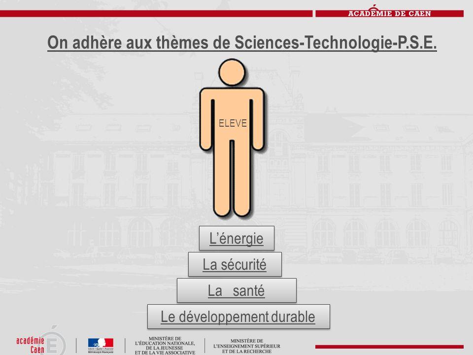 On adhère aux thèmes de Sciences-Technologie-P.S.E.