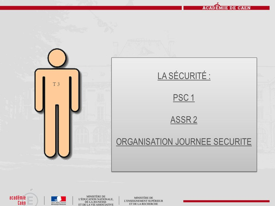ORGANISATION JOURNEE SECURITE