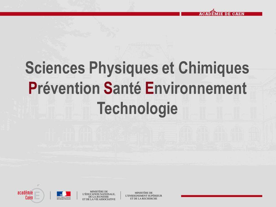 Sciences Physiques et Chimiques Prévention Santé Environnement