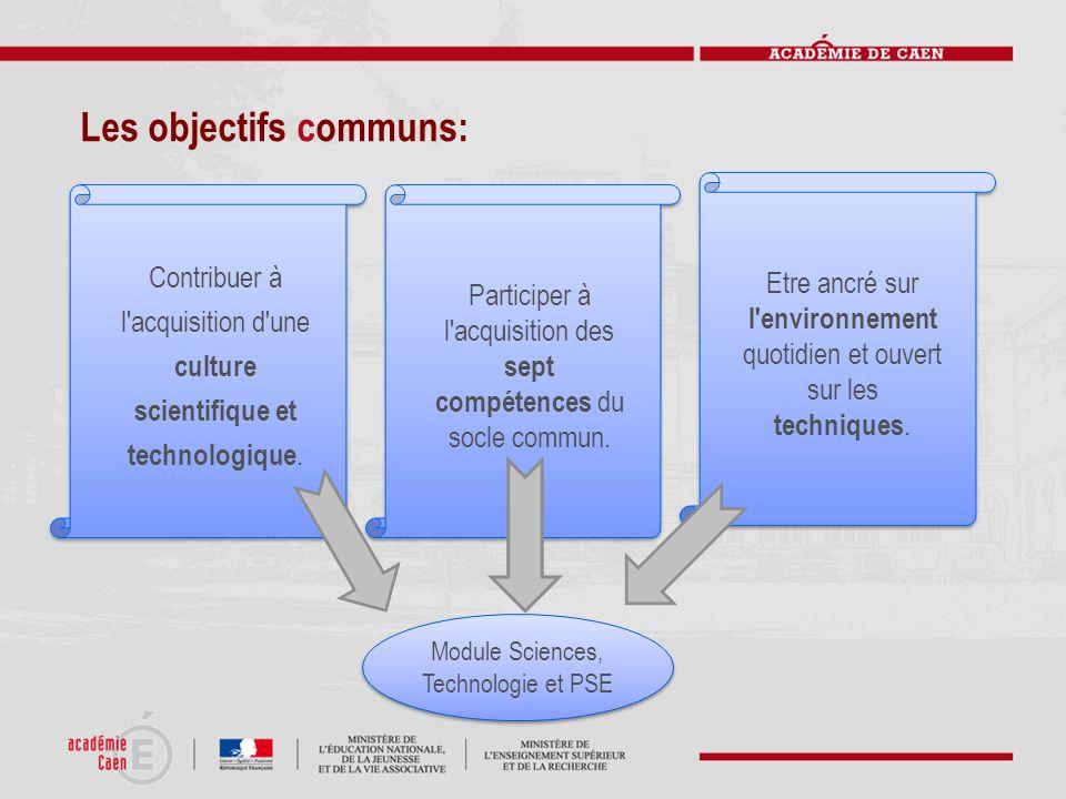 Les objectifs communs: