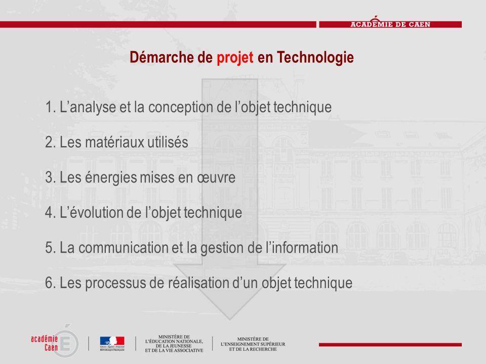 Démarche de projet en Technologie