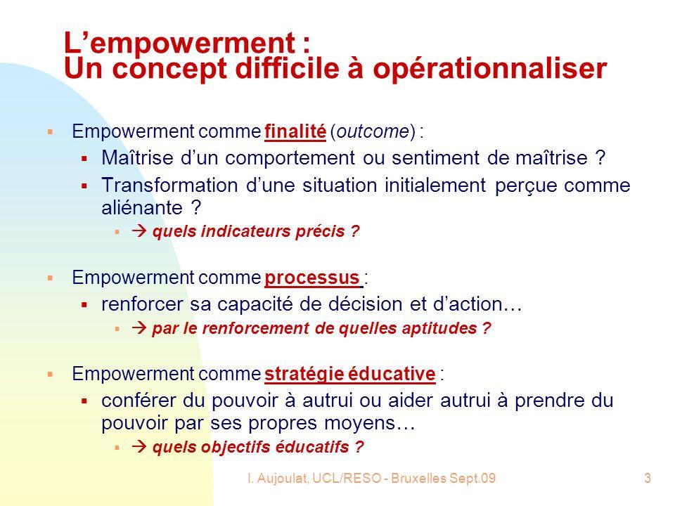 L'empowerment : Un concept difficile à opérationnaliser