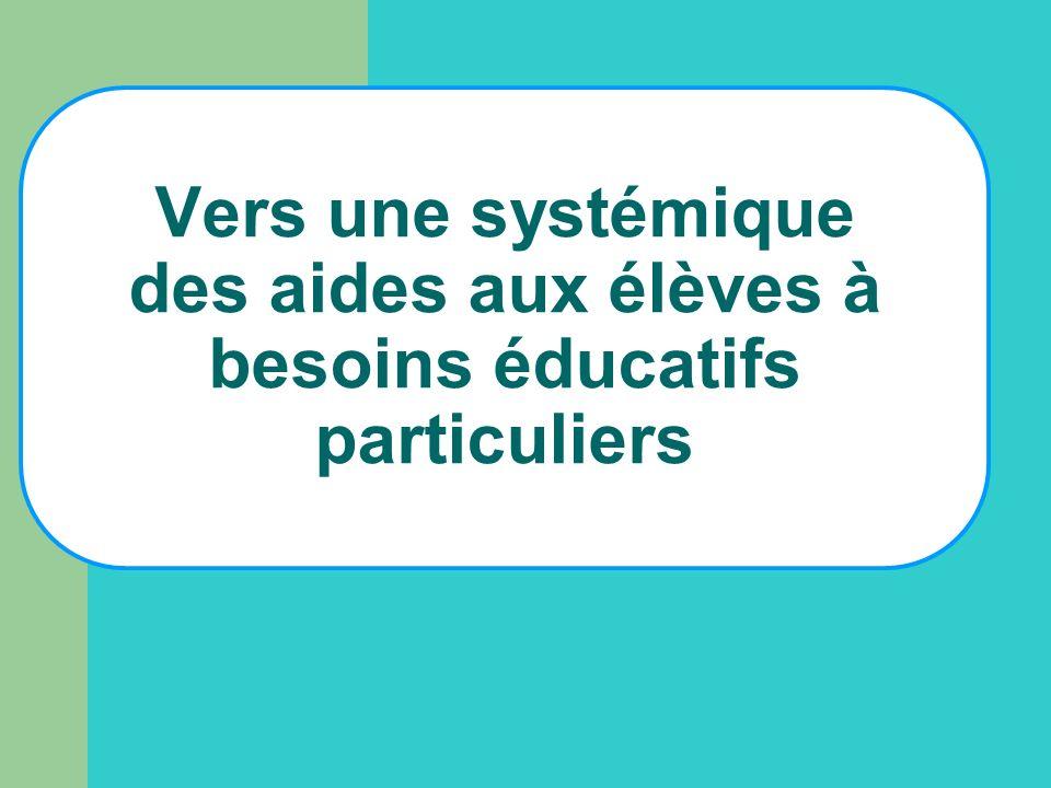 Vers une systémique des aides aux élèves à besoins éducatifs particuliers