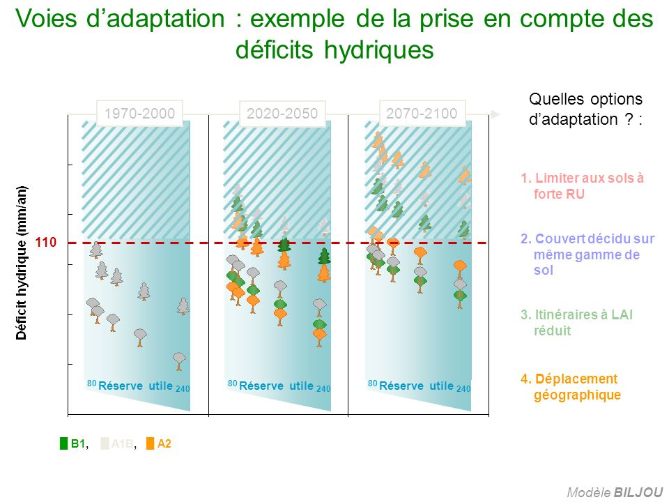 Quelles options d'adaptation :