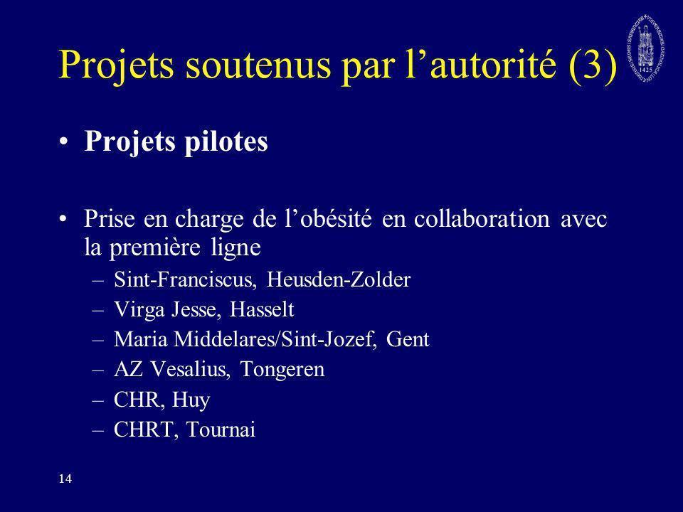 Projets soutenus par l'autorité (3)