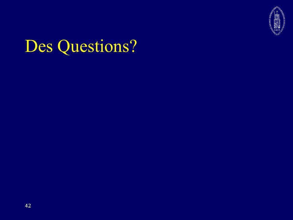 Des Questions 42