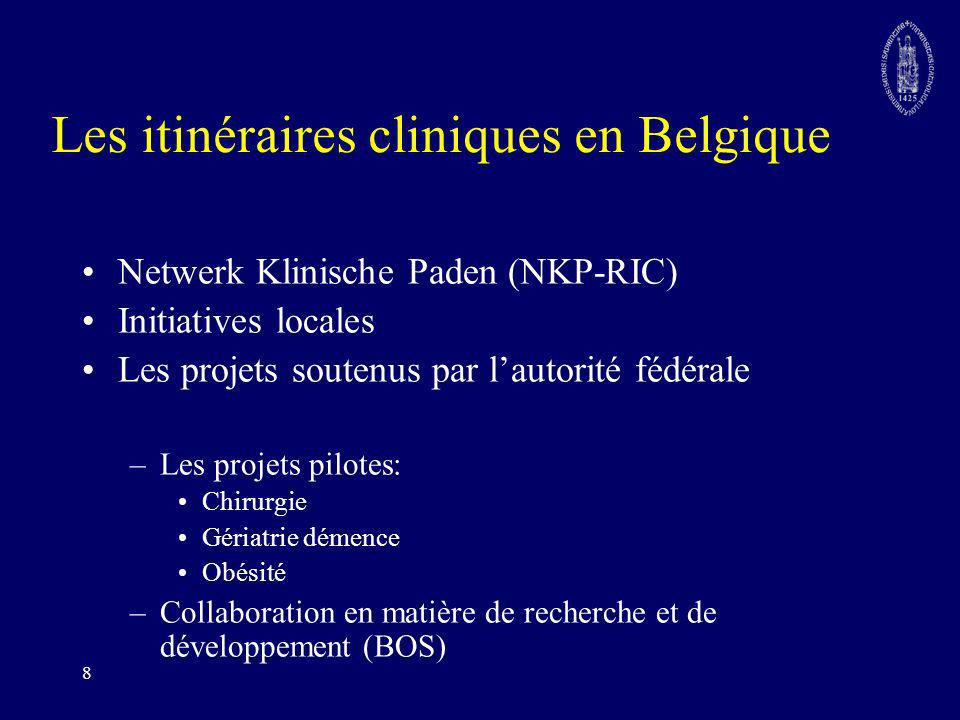 Les itinéraires cliniques en Belgique