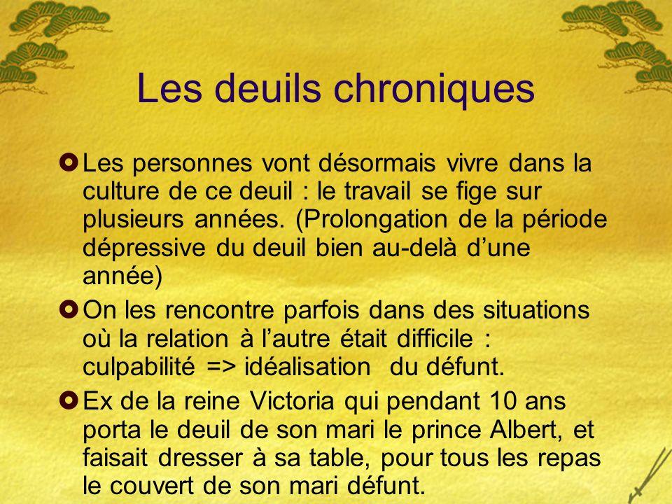 Les deuils chroniques