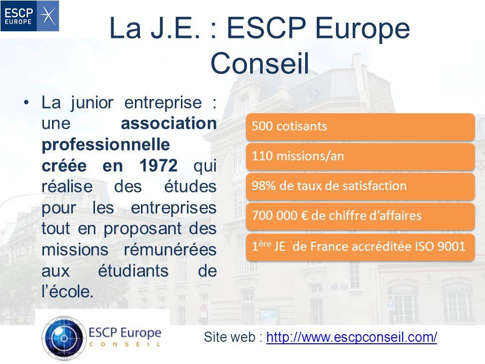 La J.E. : ESCP Europe Conseil