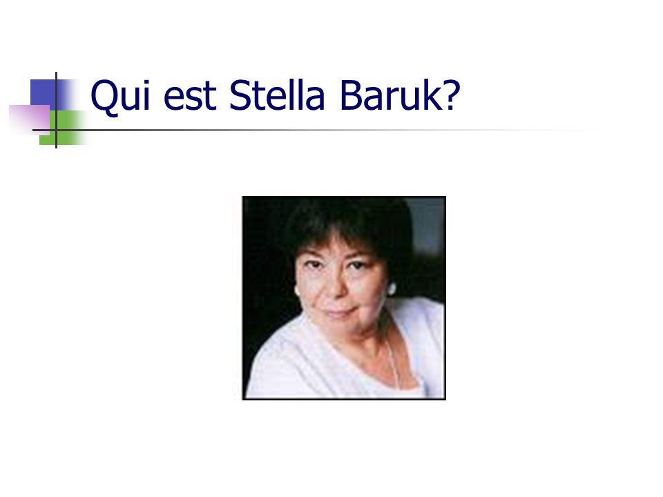 Qui est Stella Baruk