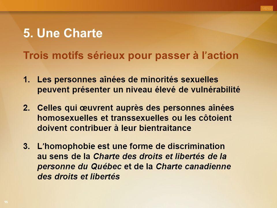 5. Une Charte Trois motifs sérieux pour passer à l'action