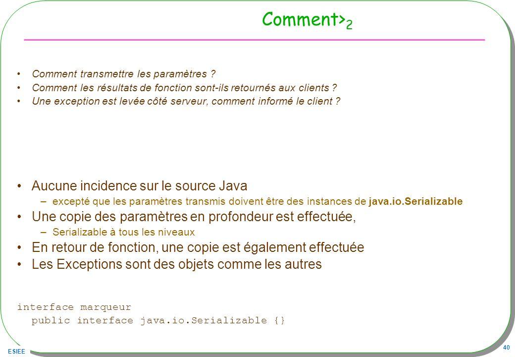 Comment>2 Aucune incidence sur le source Java