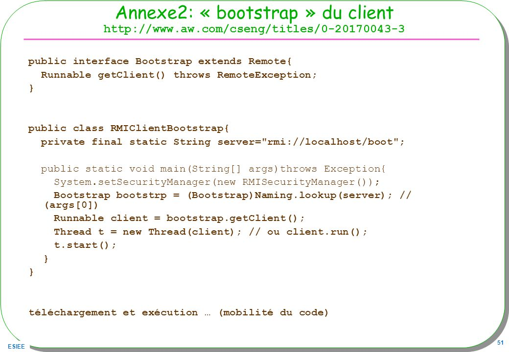 Annexe2: « bootstrap » du client http://www. aw