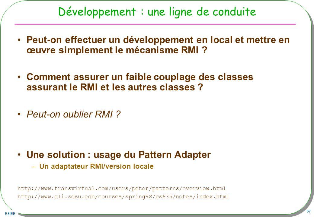 Développement : une ligne de conduite