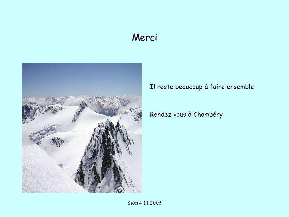 Merci Il reste beaucoup à faire ensemble Rendez vous à Chambéry