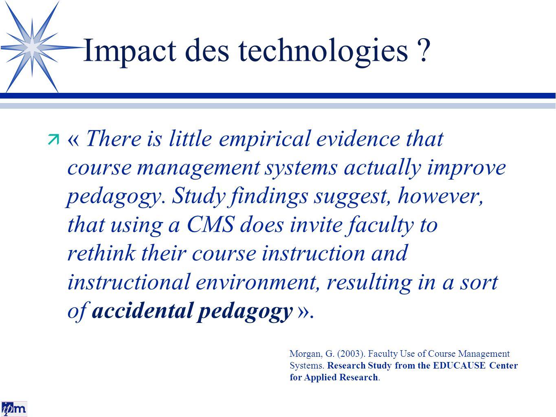 Impact des technologies