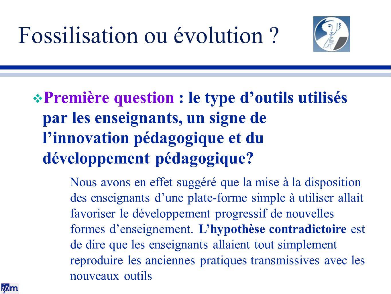 Fossilisation ou évolution