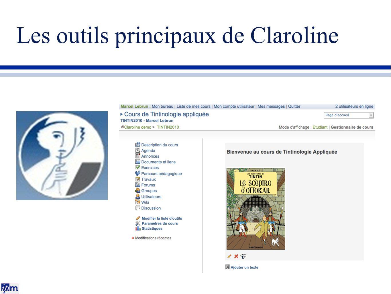 Les outils principaux de Claroline