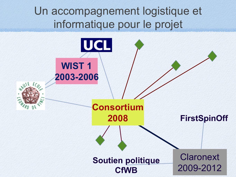 Un accompagnement logistique et informatique pour le projet