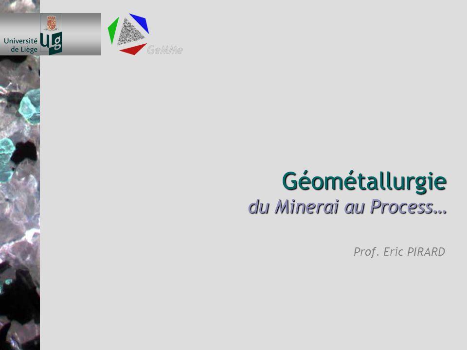 Géométallurgie du Minerai au Process…