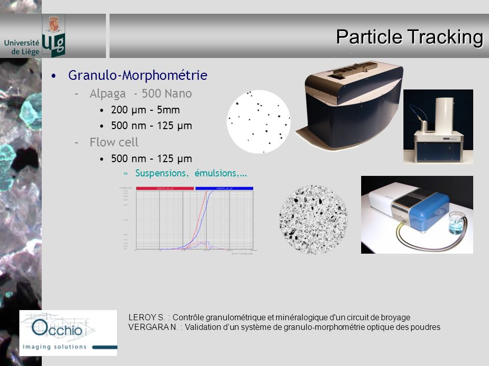 Particle Tracking Granulo-Morphométrie Alpaga - 500 Nano Flow cell