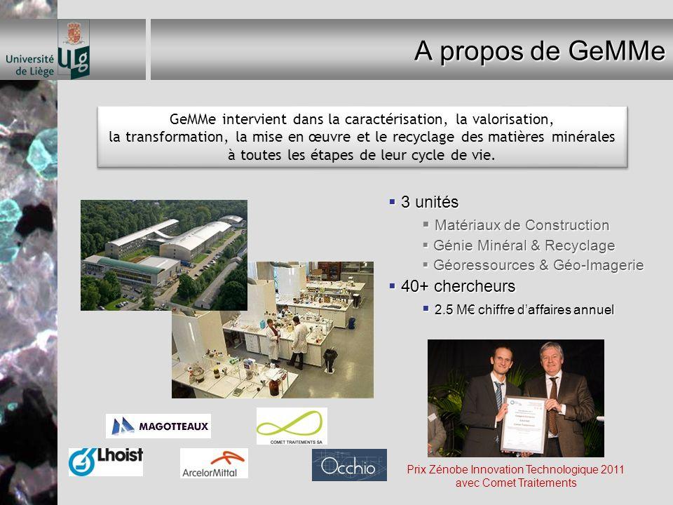 Prix Zénobe Innovation Technologique 2011 avec Comet Traitements