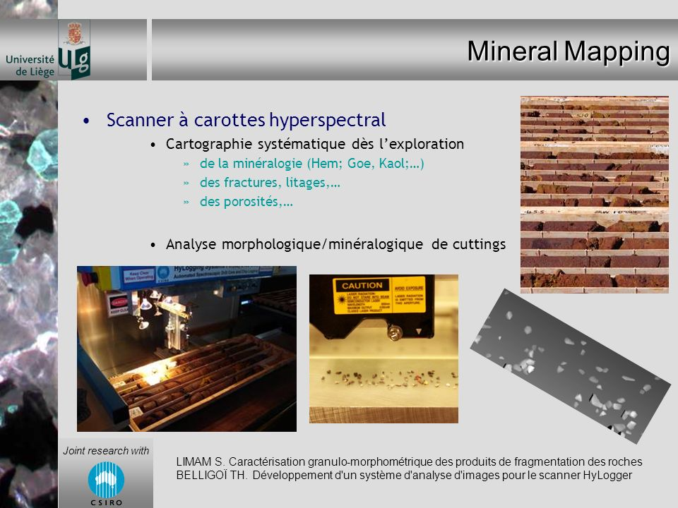 Mineral Mapping Scanner à carottes hyperspectral