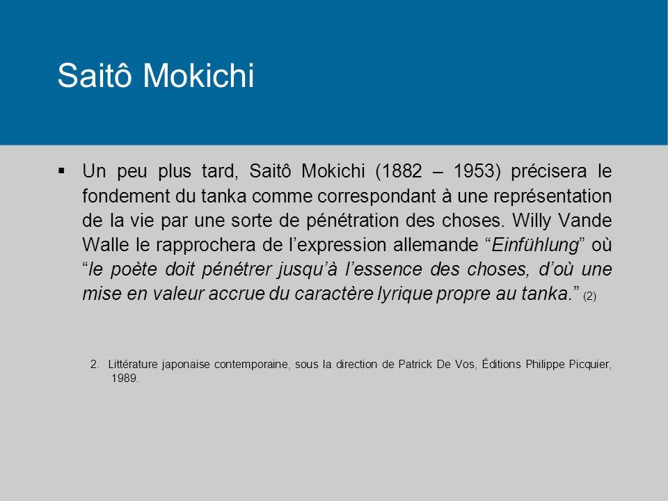 Saitô Mokichi