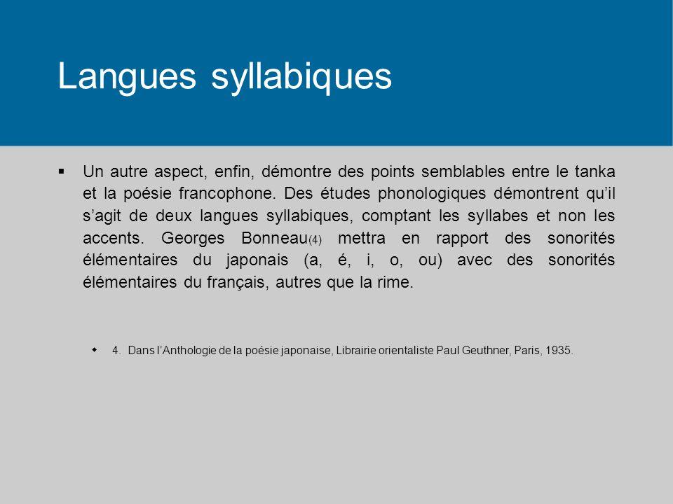 Langues syllabiques