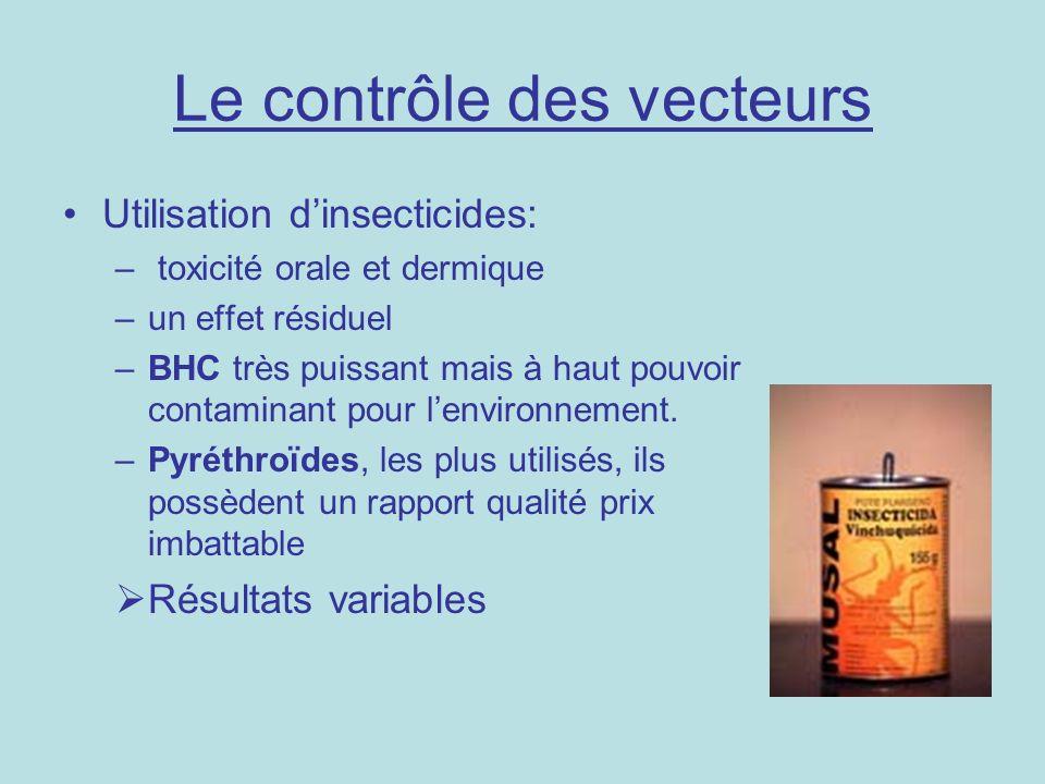 Le contrôle des vecteurs