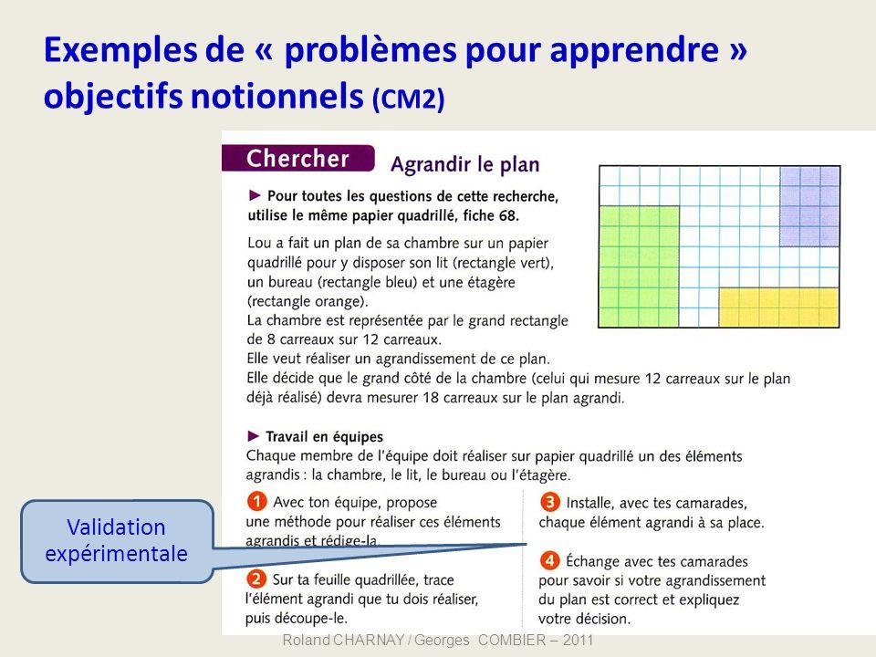 Exemples de « problèmes pour apprendre » objectifs notionnels (CM2)