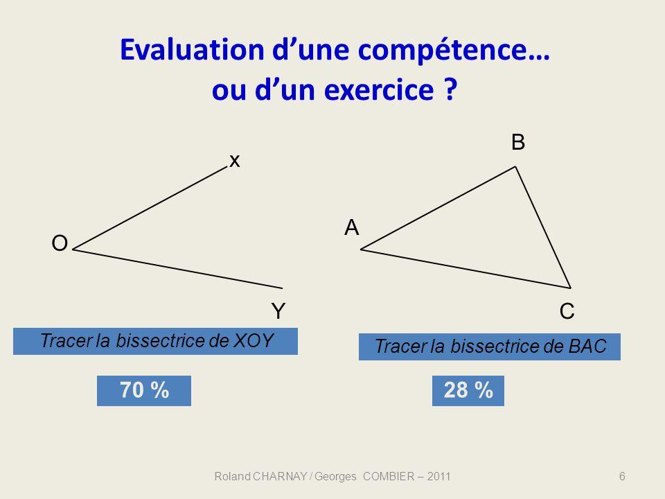 Evaluation d'une compétence…