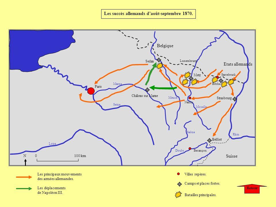 Les succès allemands d'août-septembre 1870.