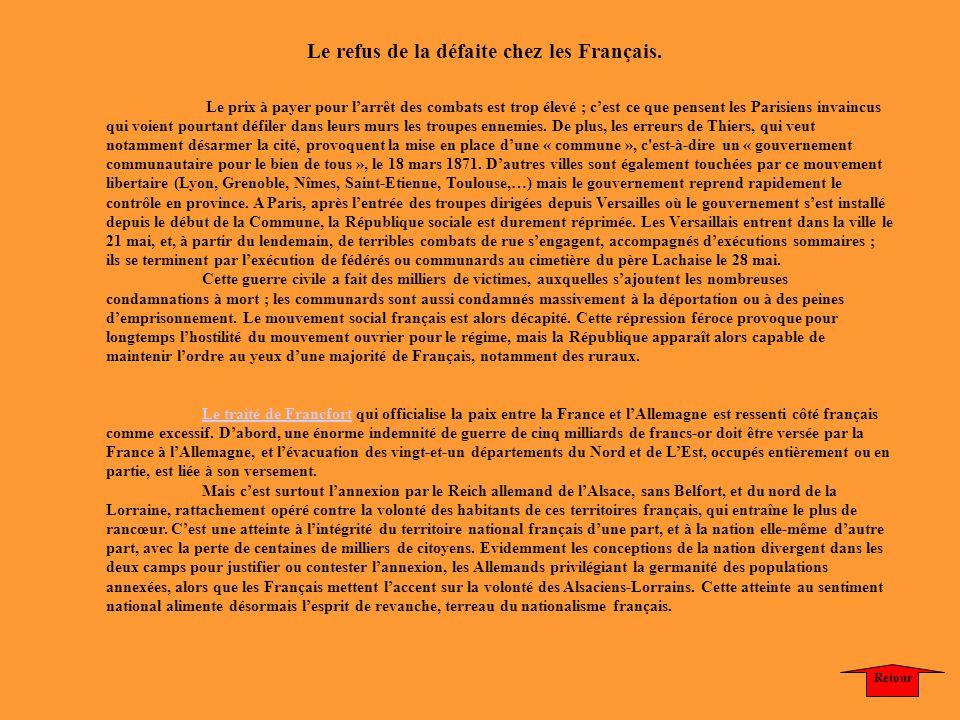Le refus de la défaite chez les Français.