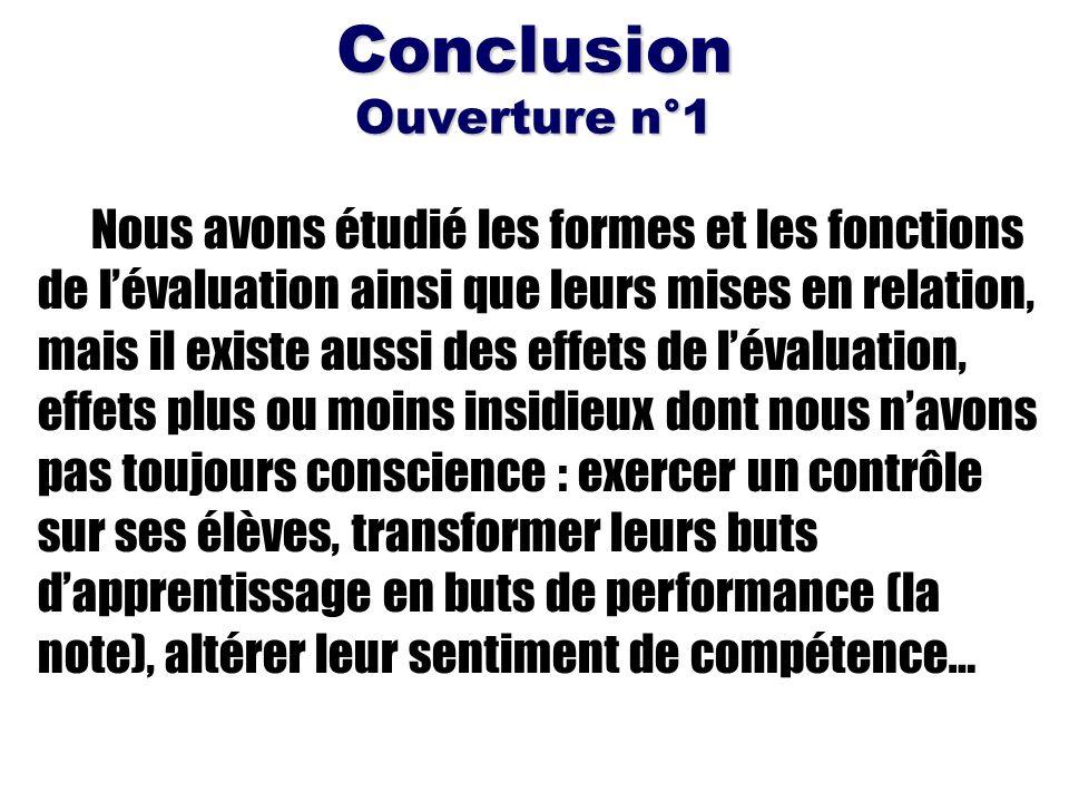 Conclusion Ouverture n°1
