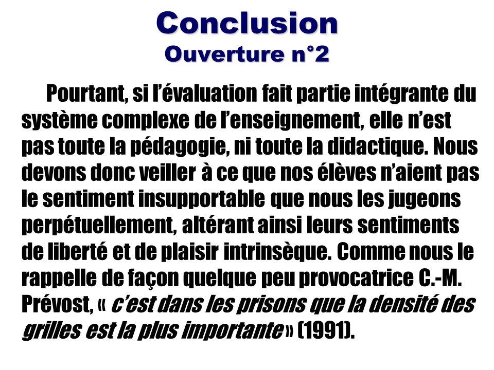 Conclusion Ouverture n°2