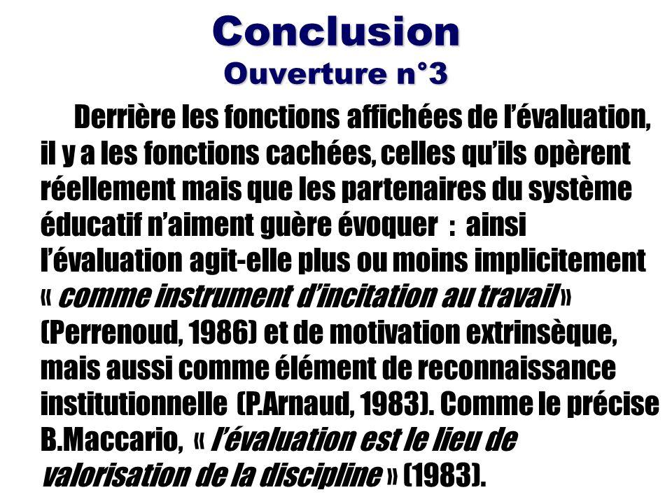 Conclusion Ouverture n°3
