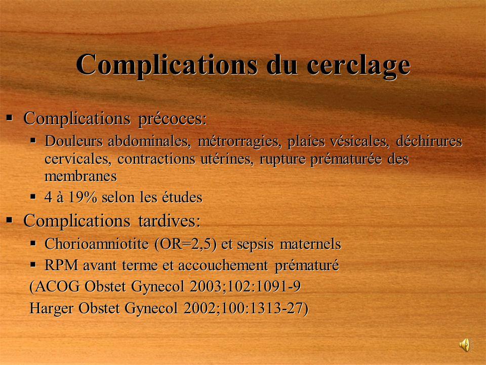 Complications du cerclage