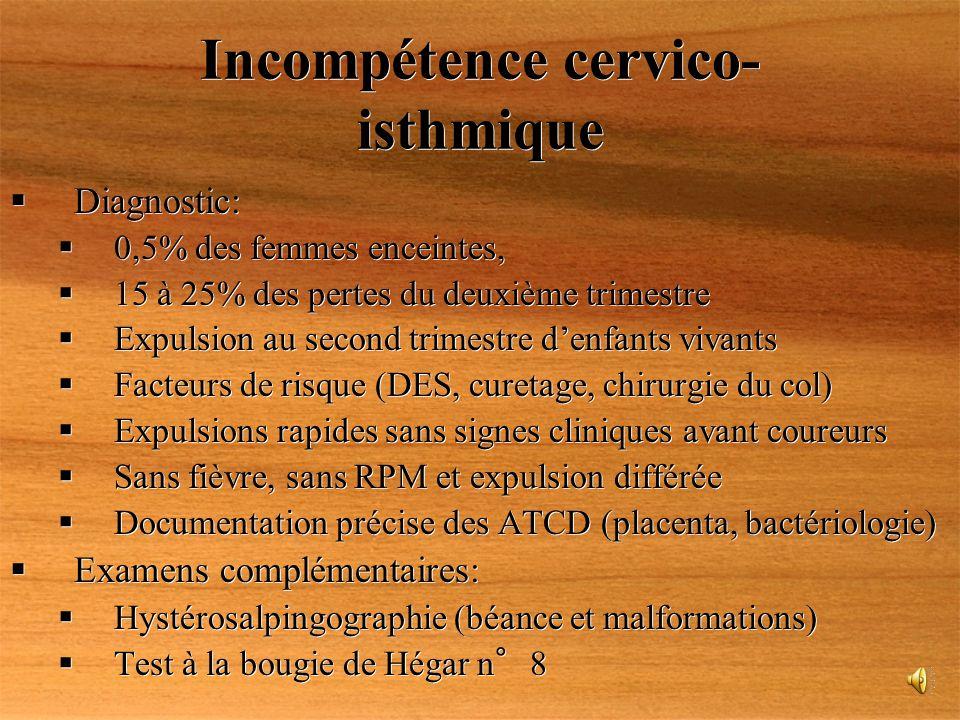 Incompétence cervico-isthmique