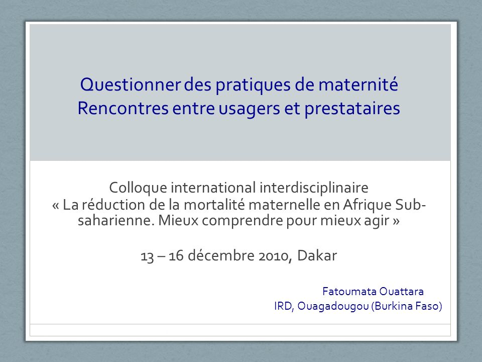 Colloque international interdisciplinaire