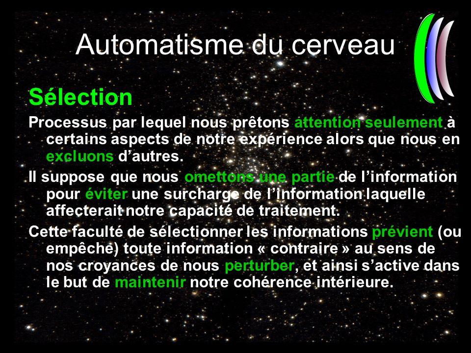 Automatisme du cerveau