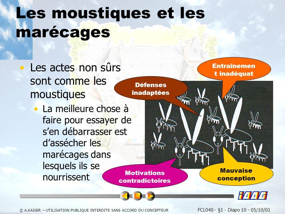 Les moustiques et les marécages