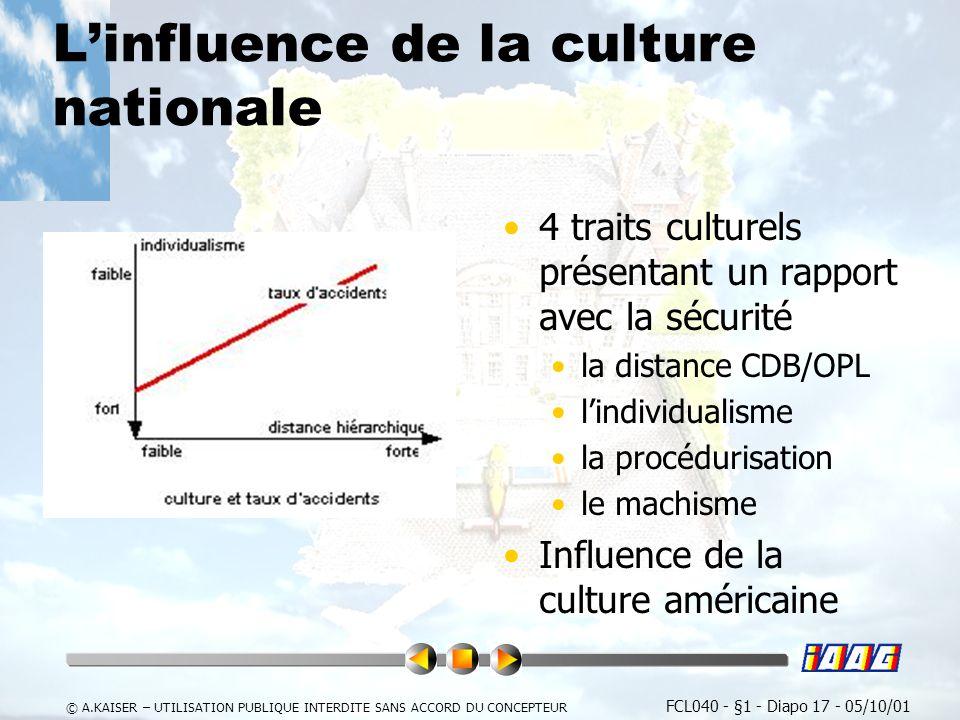 L'influence de la culture nationale